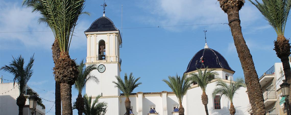 Rehabilitación de la cúpula y retejado en la iglesia de Dolores.
